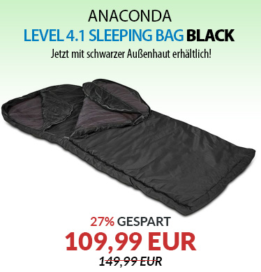 Anaconda Level 4.1 Sleeping Bag Black