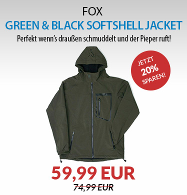 FOX Green & Black Softshell Jacket