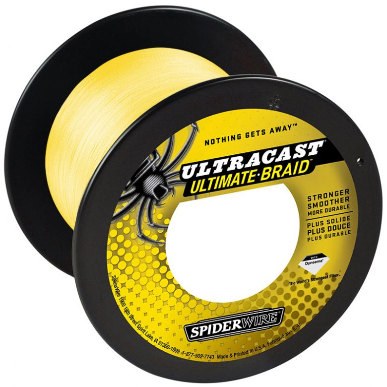 SpiderWire Ultracast 8 Ultimate-Briad Yellow Meterware 0,17 mm - 18,10 kg