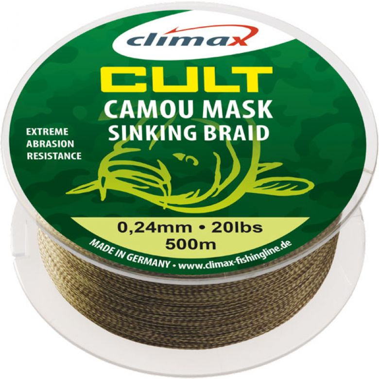 Climax Cult Camou Mask Sinking Braid - Meterware - 0,24 mm - 20 lb