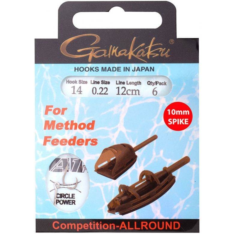 Gamakatsu Method Feeder Spike 12 cm 0,22 mm Gr. 14