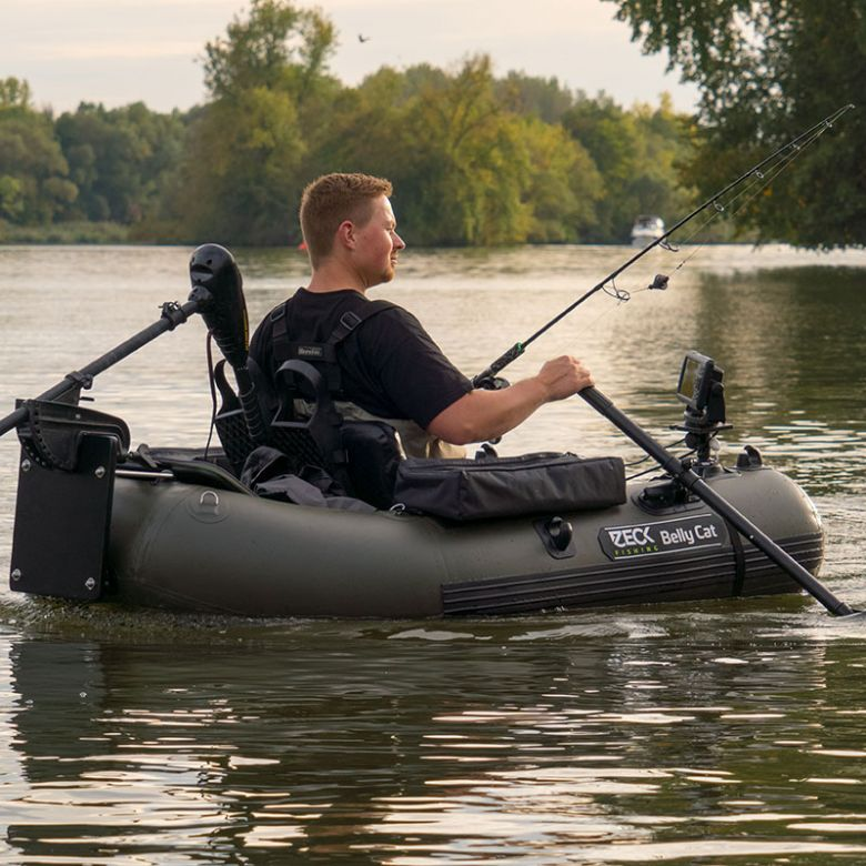 Zeck fishing belly cat kl angelsport angelger te und for Belly boat fishing