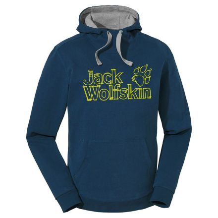 Jack Wolfskin High Density Logo Hoody Night Blue - L