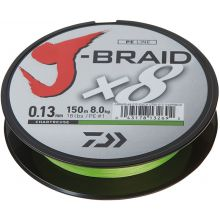 DAIWA J-Braid x8 Meterware Chartreuse - 0,10 mm - 7,0 kg