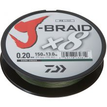 DAIWA J-Braid x8 Meterware Dunkelgrün - 0,18 mm - 12,5 kg