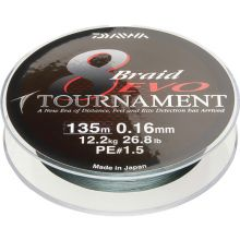 DAIWA Tournament 8 Braid EVO Meterware Dunkelgrün - 0,12 mm - 8,6 kg