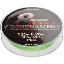 DAIWA Tournament 8 Braid EVO Meterware Chartreuse - 0,20 mm - 18,0 kg
