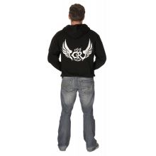 C&R Angelwings Zip Hoodie Black - REPO - XXL