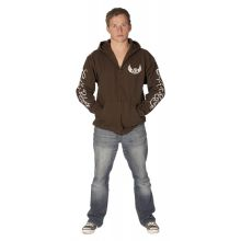 C&R Carp Circle Zip Hoodie Chocolate - REPO - M