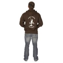 C&R Drillman Zip Hoodie Chocolate - REPO - M