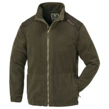 Pinewood Retriever Fleecejacke Dunkeloliv/Wildleder Braun - L