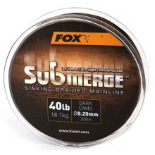 FOX Submerge Sinking Braided Mainline - Dark Camo - 600 m - 40 lb