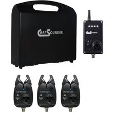 Carp Sounder Super IT - 3+1 Set im Koffer - Bunt (rot, grün, gelb)
