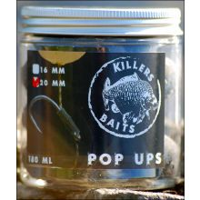 Carp Killers Black Hash Pop Ups - 16 mm