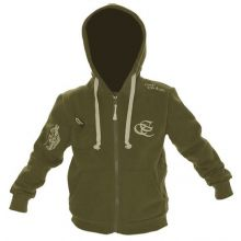 Carp Couture Green Kids Zip Hood - M