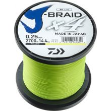 DAIWA J-Braid X4 Gelb Meterware - 0,25 mm - 14,4 kg