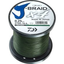 DAIWA J-Braid X4 Dunkelgrün Meterware - 0,25 mm - 14,4 kg