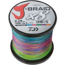 DAIWA J-Braid x8 Meterware Multi-Color 0,35 mm 36,0 kg