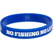NO FISHING NO LIFE + DAIWA DVEC Armband Blau-Weiss