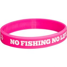 NO FISHING NO LIFE + DAIWA DVEC Armband Pink-Weiss