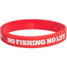 NO FISHING NO LIFE + DAIWA DVEC Armband Rot-Weiss