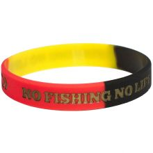 NO FISHING NO LIFE + DAIWA DVEC Armband Deutschland-Gold