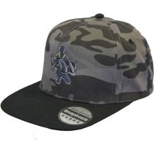 Vass SnapBack Fishing Cap Grey Camou with Black Peak
