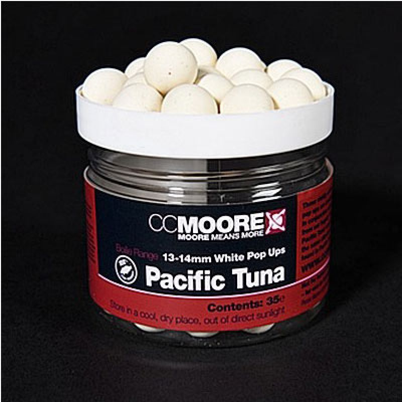 ccmoore pacific tuna white pop ups 13 14 mm kl. Black Bedroom Furniture Sets. Home Design Ideas